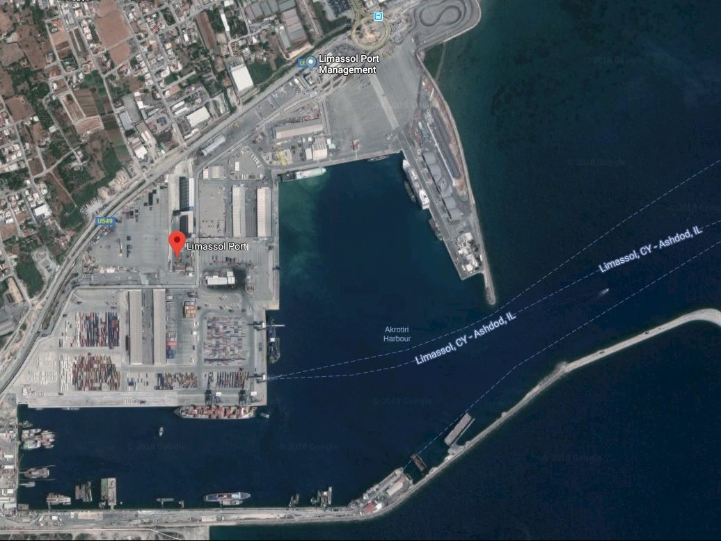 Limassol port aerial photo