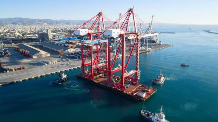 new bigger gantry cranes for Limassol port