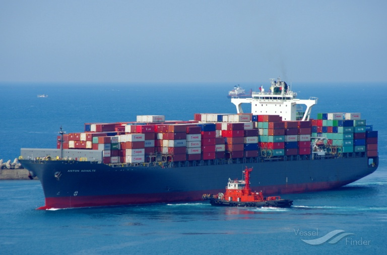 anton schulte vessel limassol to felixstowe